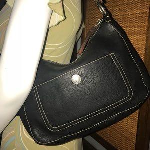 Coach F10890 Chelsea Black Pebble Leather Hobo Bag